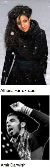 Athena Farrokhzad and Amir Darwish