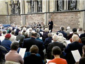 John Rowlands Pritchard leading Gregorian Chant Workshops