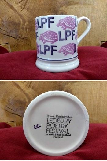 Ledbury Poetry Festival mugs by Emma Bridgewater