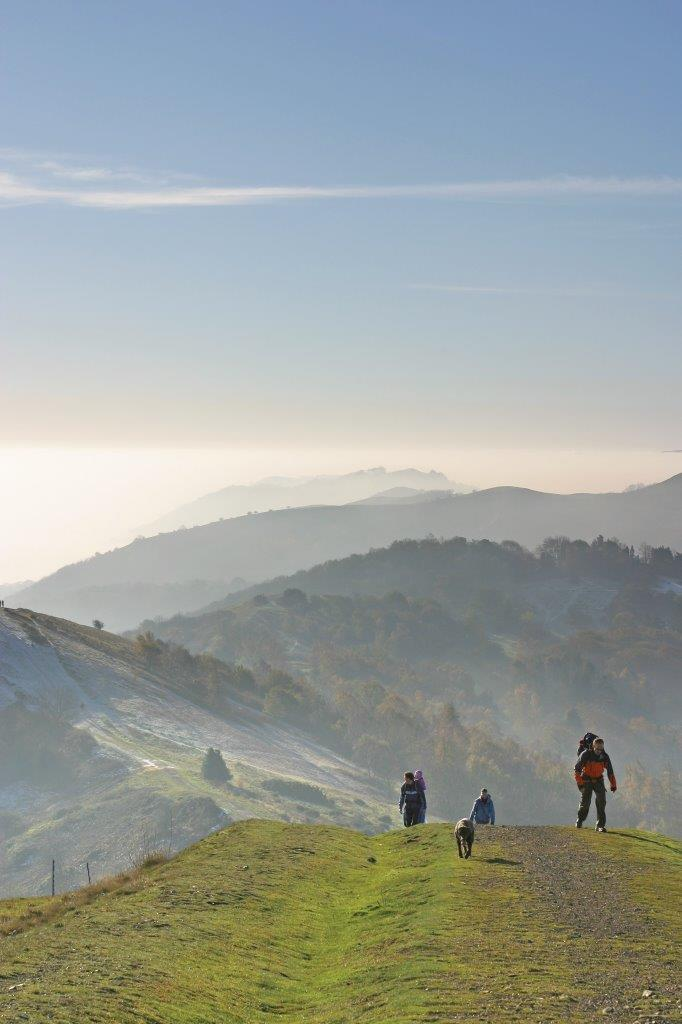 Hikers on The Malvern Hills