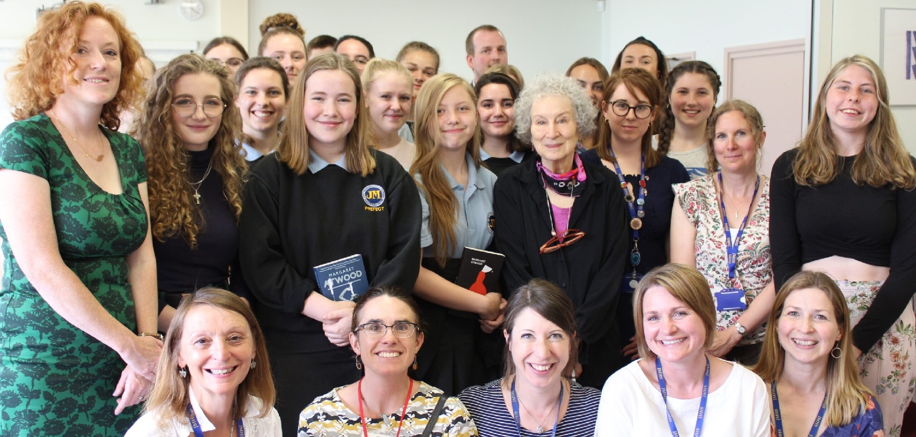 John Masefield pupils with Margaret Atwood